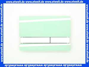 1674000126100 Jomo Betätigungsplatte mit Halterahmen, grün, satiniert