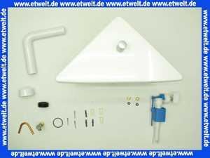 16818000201 Jomo Aufputz Eck Spülkasten tiefhängend weiß mit Spül- Stopptaste im Deckel als Zugknopfbetätigung