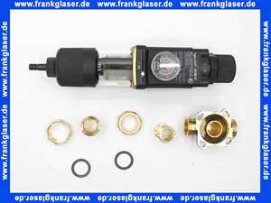 8171002 Judo GUBI-E 1 Zoll Hauswasserstation Rückspül-Schutzfilter mit Edelstahleinsatz Druckminderer Rückspülanzeige Einbaudrehflansch mit Bajonettanschluß