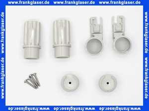 2533576 Kermi Kunstoff Scharniersatz zu Duschabtrennung Silber Mattglanz