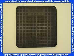 83050 Kessel Abdeckplatte schwarz inklusive Dichtung