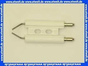 612067 Körting Doppelelektrode 8x42/27.5x13 Zünddraht 2x1.5D
