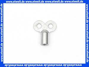 Luftschlüssel Entlüftungsschlüssel Metall mit Innenvierkant für Heizkörper zur Entlüftung