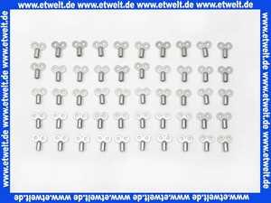 50 Luftschlüssel Entlüftungsschlüssel Metall mit Innenvierkant für Heizkörper zur Entlüftung