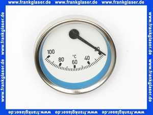 58071.06 Meibes Thermometer blau, exzentrischer Anschluß
