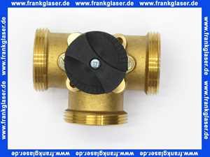 66612 Meibes Messing 3-Wege Mischer 3 x 1 1/2 Zoll AG und 1 Zoll IG 90 x 45 mm