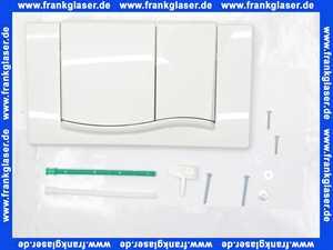 420501 Betätigungsplatte Kst. 2-Mengen-Sp. Sanicontr.Spk.61 weiss