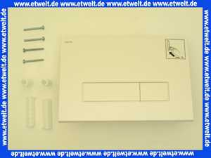 421710 Mepa Betätigungsplatte MEPAORBIT für Sanic. Spülkasten, 2-Mengenspl., weiss
