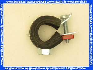 1518 Rohrschelle 15-18 mit Gummieinlage und 8mm Gewindeanschluss