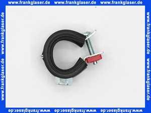 Rohrschelle 20-23 mit Gummieinlage und 8mm Gewindeanschluss