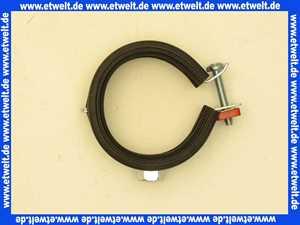 Rohrschelle 88-92 mit Gummieinlage und 8mm/10mm Gewindeanschluss