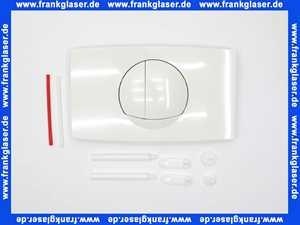 1601801 SANIT Betätigungsplatte L für 2-Mengenspülung, alpin-weiß