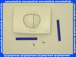 1670101 SANIT Betätigungsplatte S701,vorn/oben, für kleine Revisionsöffnung, alpin-weiß