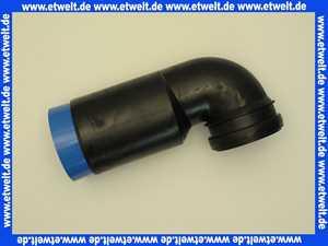 5890100 SANIT WC-Anschlussbogen 90 Gr, DN 90/ DN 100, 1-fach verstellbar, schwarz