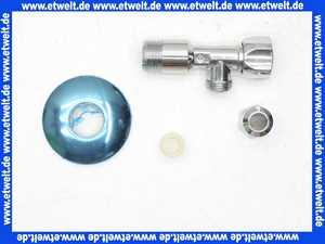 Eckventil Seppelfricke DN15 1/2 Zoll x 10mm chrom mit Verlängerung und Rosette