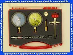 Öl Pumpenprüfkoffer P 1 G *BG* komplett bestückt im Kunststoffkoffer Manometer und Vakumeter mit Glyzerinfüllung