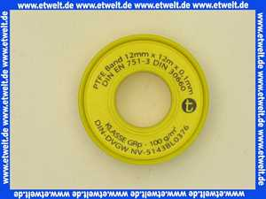 Teflon-Gewindedichtband Dichtung PTFE-Dichtband nach DIN EN 751-3 fuer Grobgewinde