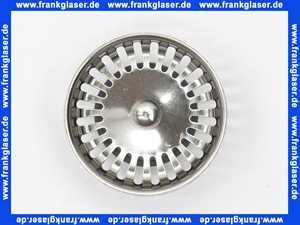 94088361 Villeroy & Boch Körbchen Stopfen für Handbetätigung chrom Durchmesser 82 mm