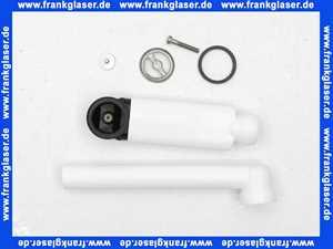 96241161 Villeroy & Boch Überlauf komplett Durchm. 25mm Ab-und Überlauf, Rosette Durch. 35mm