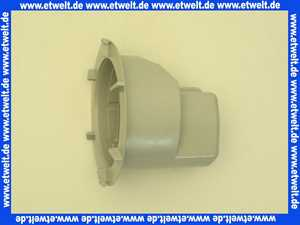 318284 Viega Gehäuseoberteil für Brausetasse Ablaufgehäuse Sifon 6956.1-253 in 110 x 82mm Kunststoff grau