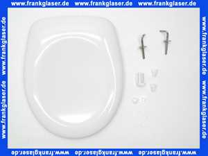 536598 WC-Sitz Derby Basic für Stand-WC Edelstahlscharnier weiß Vigour, Nachfolgermodell zu WC-Sitz Derby Lux