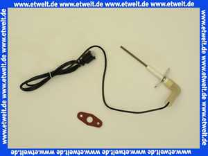 48101130162 Weishaupt Ionisationselektrode WTC 15/25/32-A mit Anschlusskabel und Dichtung - Ersatz -