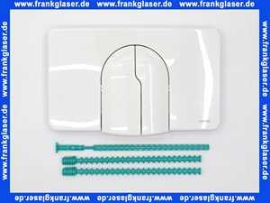 8050420730 Wisa Betätigungsplatte Drückerplatte weiss für UP Spülkasten