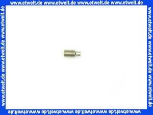022248 Gewindestift DIN 915/ISO 4028 M4 x 8 A1 mit Innensechskant SW 2,0 und Zapfen