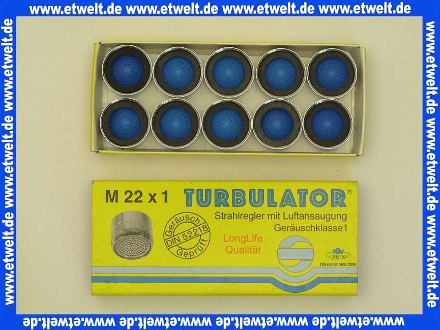 10x Turbulator ® 22x1 Strahlregler Luftsprudler Siebeinsatz Long life Qualität