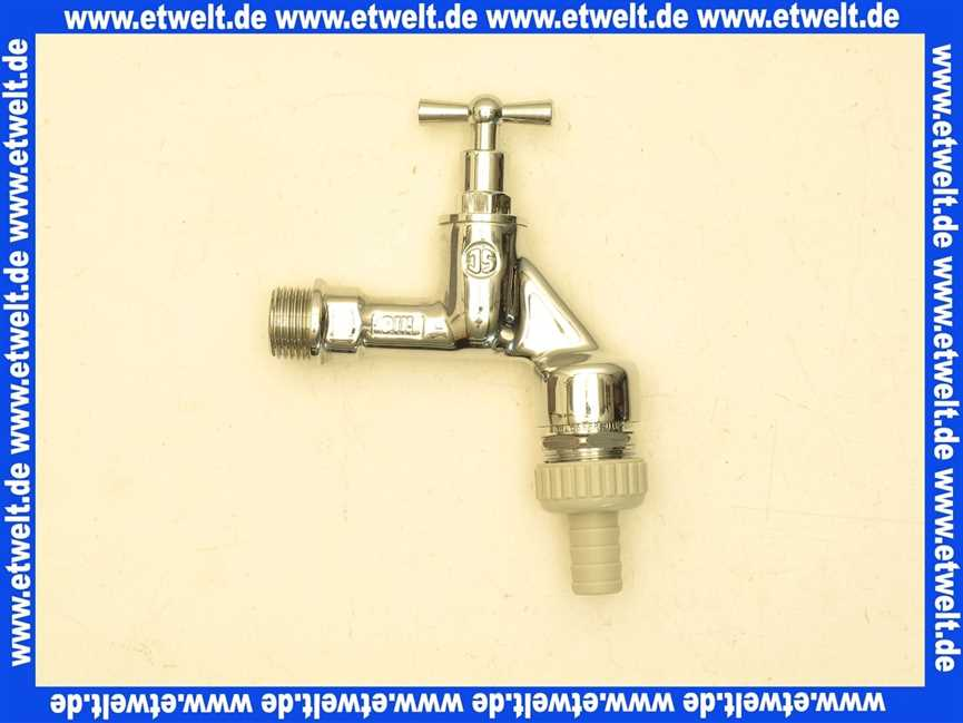 auslaufventil zapfhahn wasserhahn 12 verchromt dvgw  ~ Wasserhahn Rückflussverhinderer
