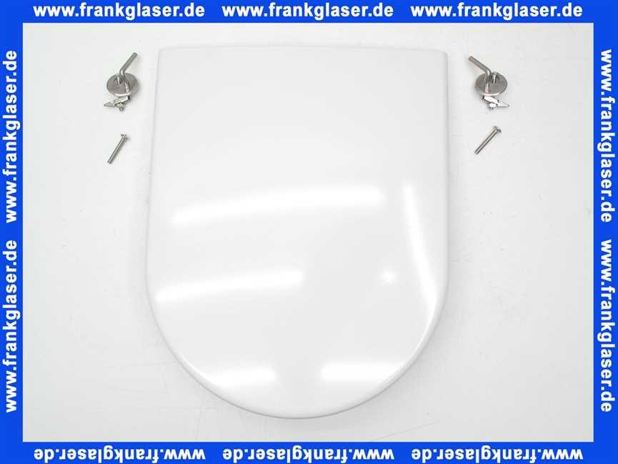 wc sitz mit deckel cosimaclassic wei mit steckscharnieren chrom toilette toilettendeckel. Black Bedroom Furniture Sets. Home Design Ideas