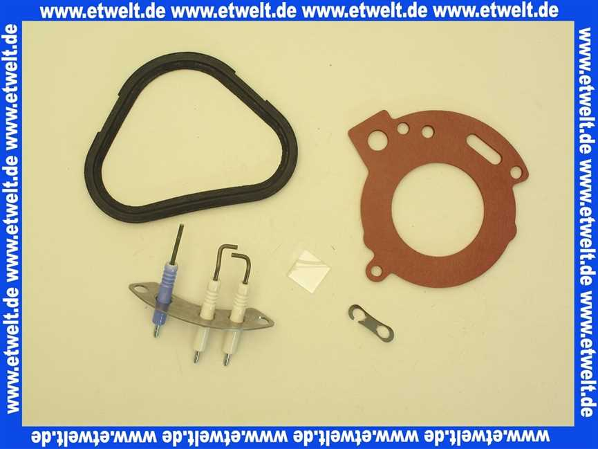 Zündelektrode Elektrodensatz 87181070870 GB172 14-24 Sieger Elektrode Buderus