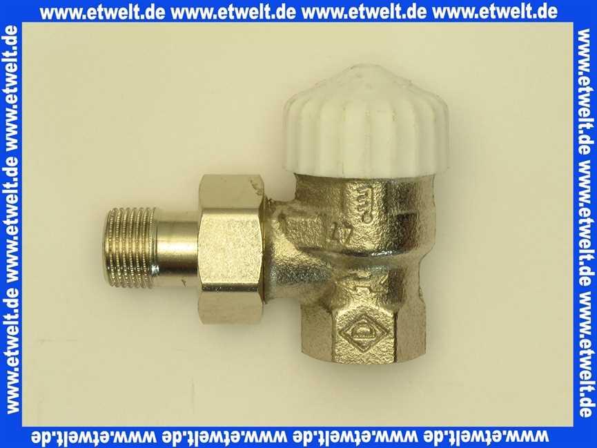 Heimeier Thermostatventil Ventilunterteil Heizkörperventil 38 Eck