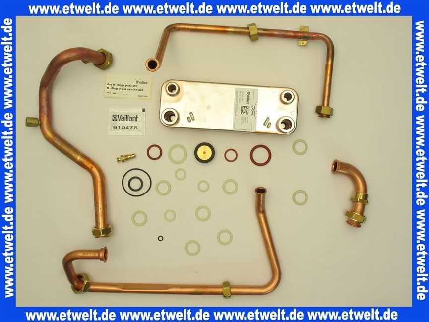 06 5034 Vaillant Wärmetauscher Brauchwasser Warmwasser Umbausatz