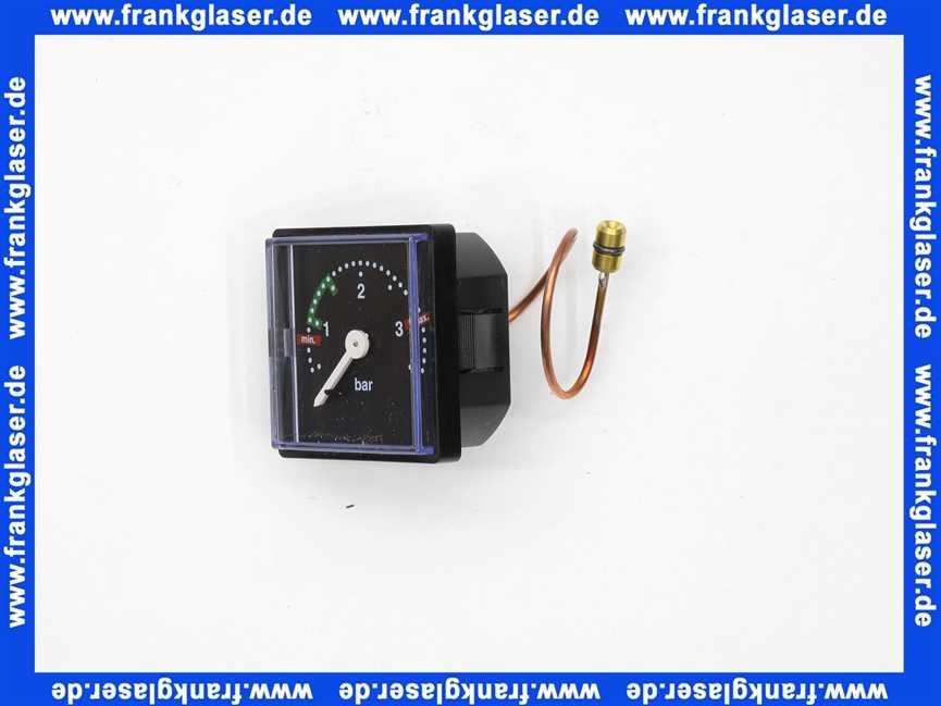 Vaillant Manometer 101272 VC VCW 105 166 204 205 206 194 195 196 254 255 256