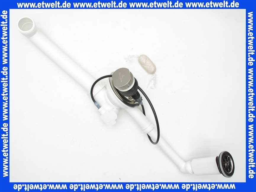 82520061 villeroy boch ablaufgarnitur mit berlauf zu sp lbecken komplett mit bowdenzug. Black Bedroom Furniture Sets. Home Design Ideas