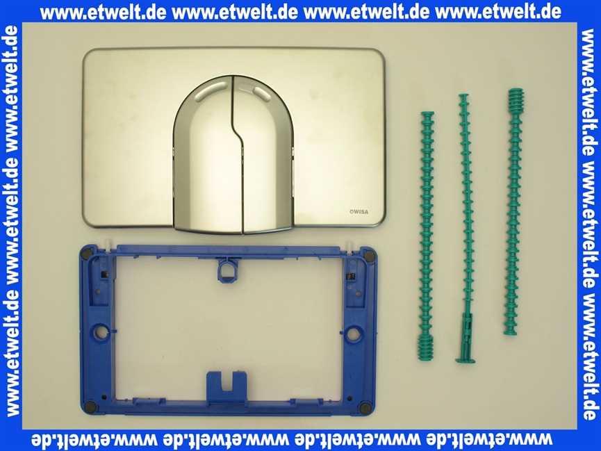 8050420759 wisa bedienungsplatte dr ckerplatte abdeckplatte 2100df 2 matt chrom f r up. Black Bedroom Furniture Sets. Home Design Ideas