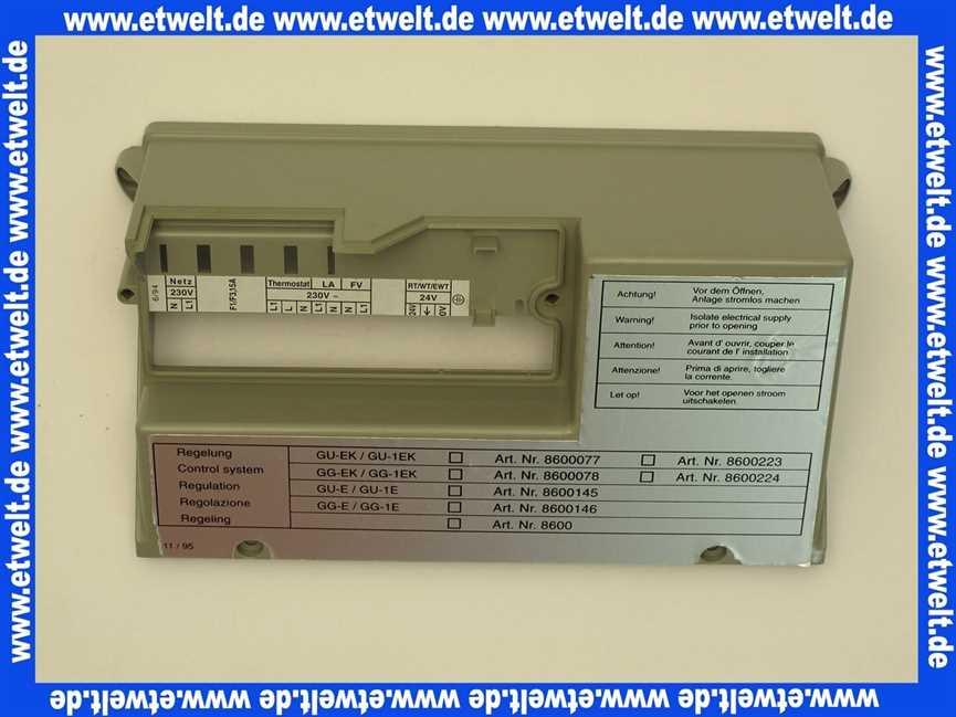 Gehäuse Deckel Regelung GU//GG-18//24-1710005